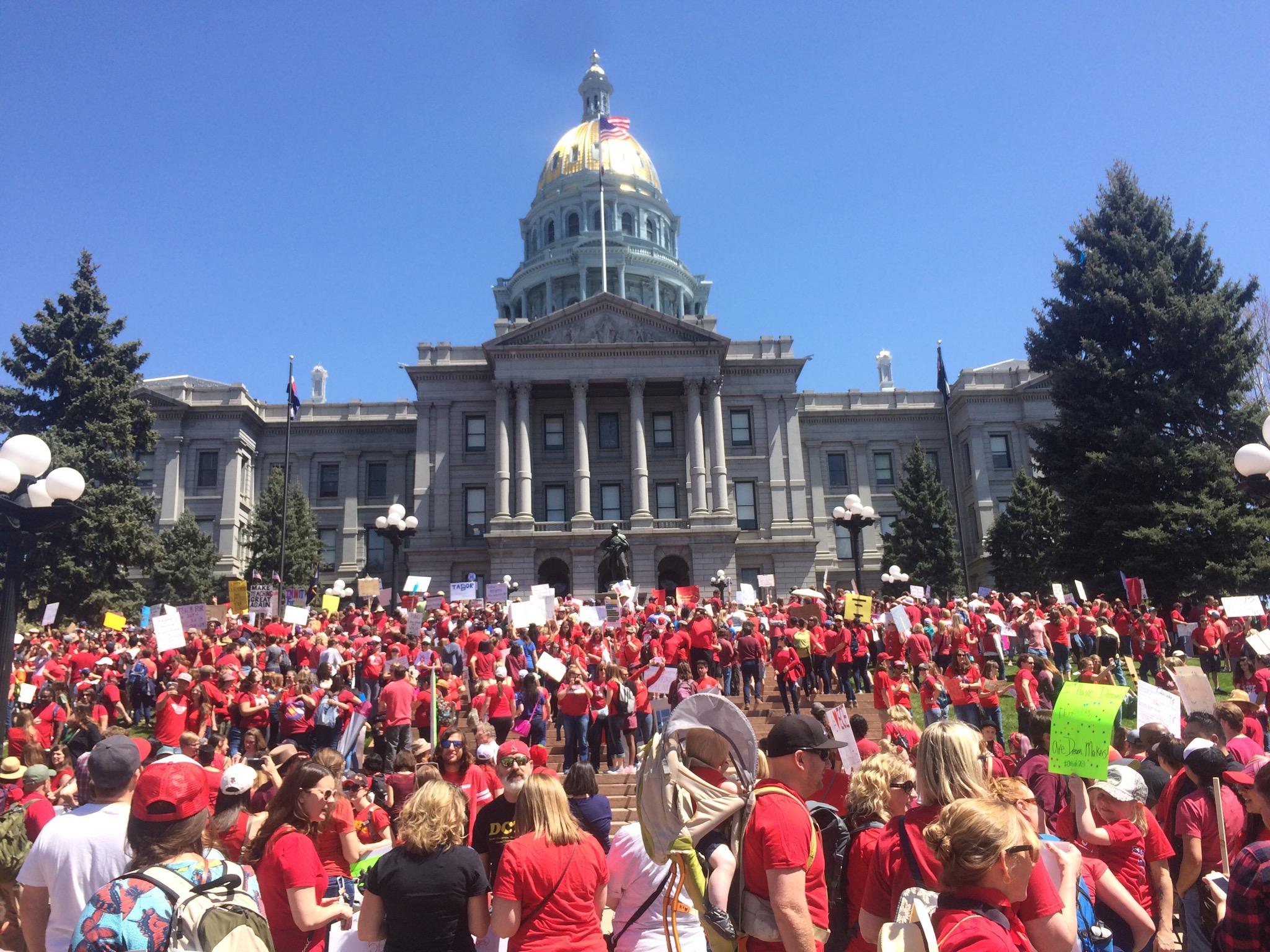 Photo of Colorado teachers stage massive walkout for public education