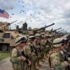 """Foto: Tropas estadounidenses, inglesas y georgianas en ensayos de guerra conocidos como """"Noble Partner (socio noble),"""" uno de los eventos del Ejercito Estadounidense en Europa, mayo 2016"""