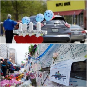 Memorials for victims at the Waffle House near Nashville, Tennessee, and on Yonge Street in Toronto, Ontario.
