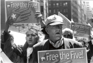 Marching to free the Cuban Five. Photo: Bill Hackwell
