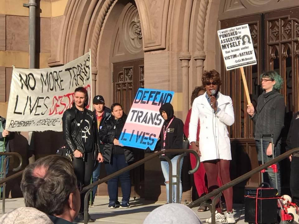 Photo of Trans community speaks out in New Haven for Visibility Day