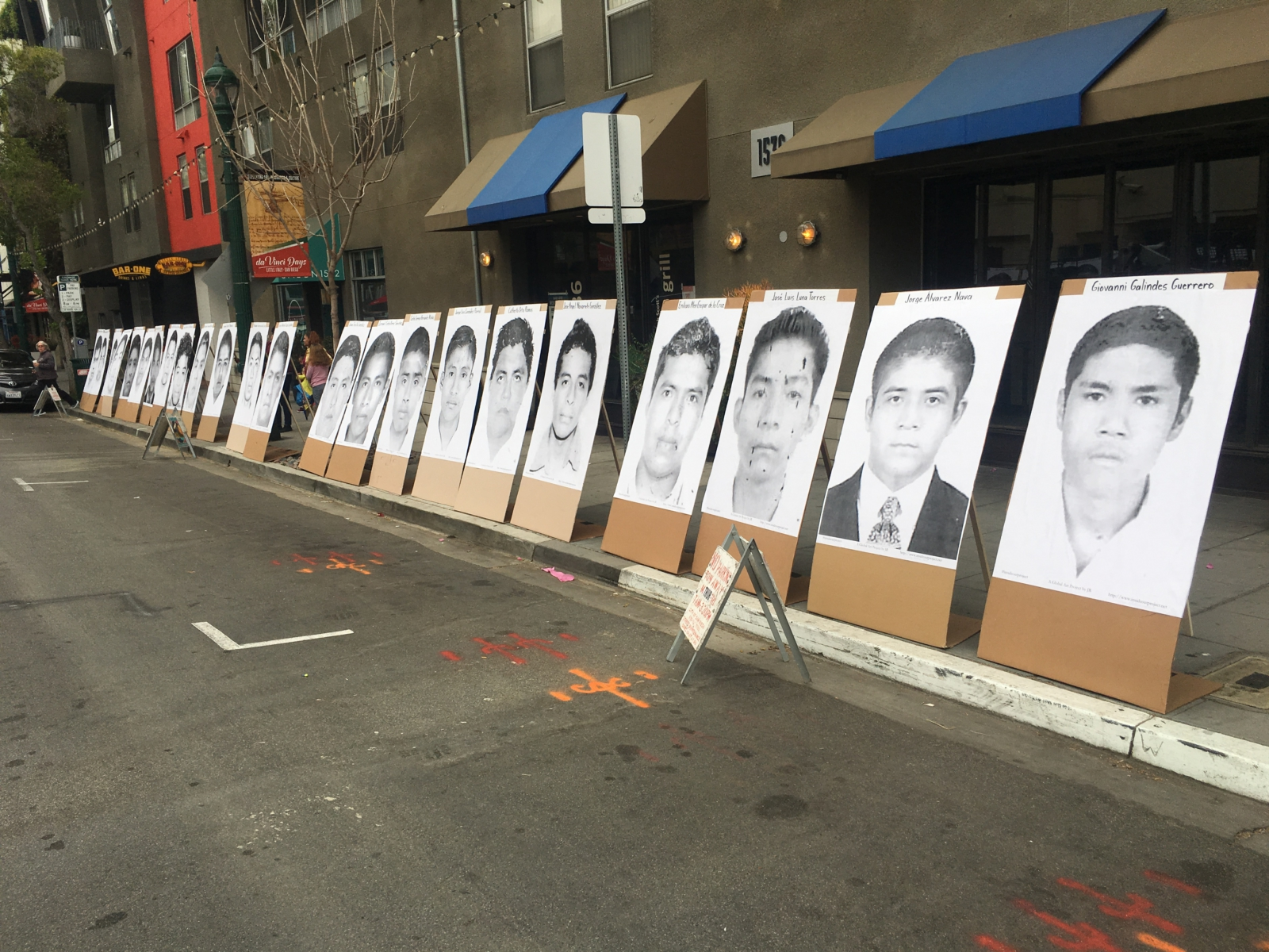 Photo of Global action for Ayotzinapa in San Diego