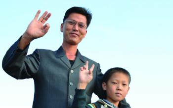 Pyongyang, North Korea, October 10, 2015. Photo: Gloria La Riva
