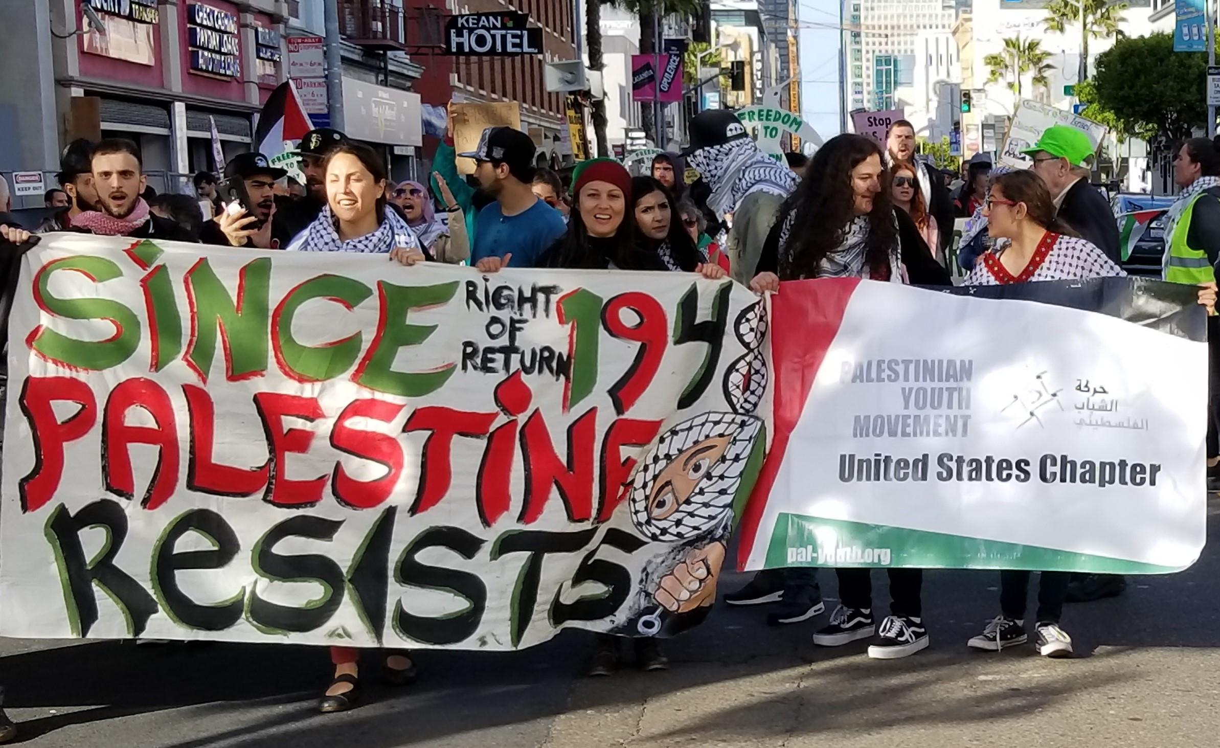 San Francisco: Palestinian Nakba marked, speech of war criminal Barak disrupted