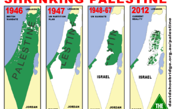 The disappearance of Palestine - 1946-2012