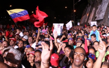 Venezuelans celebrate Maduro's election victory. Photo: TeleSur