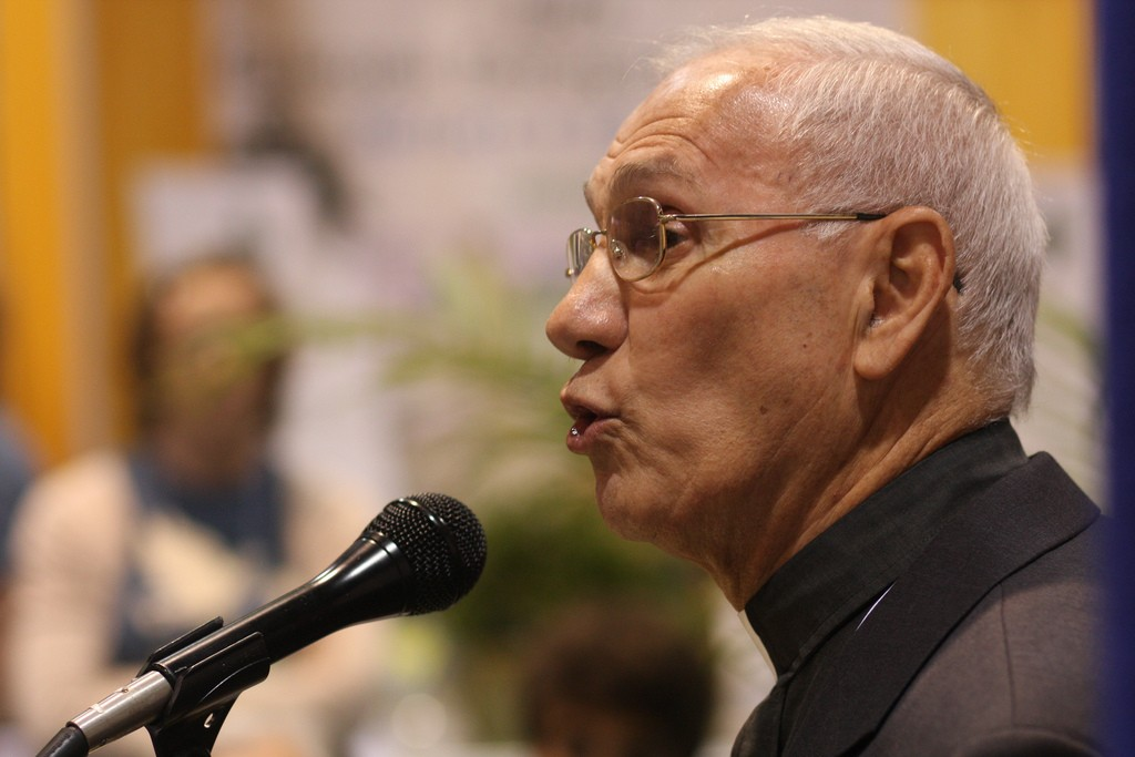 Photo of Rev. Naim Ateek delivers a powerful message of unity on the 70th anniversary of the Nakba