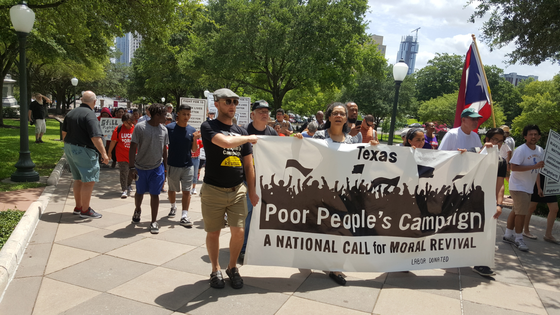 Photo of Poor People's Campaign action in Austin, TX