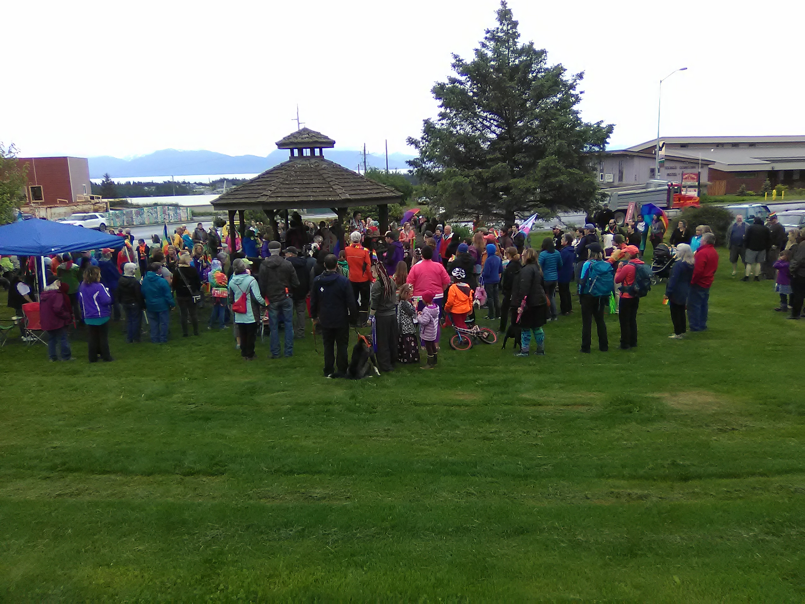 Photo of Homer, Alaska, holds historic LGBTQ Pride march