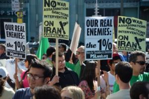 Manifestación en Los Ángeles contra una nueva guerra de EE. UU. contra Irán, 2012. (Liberation)