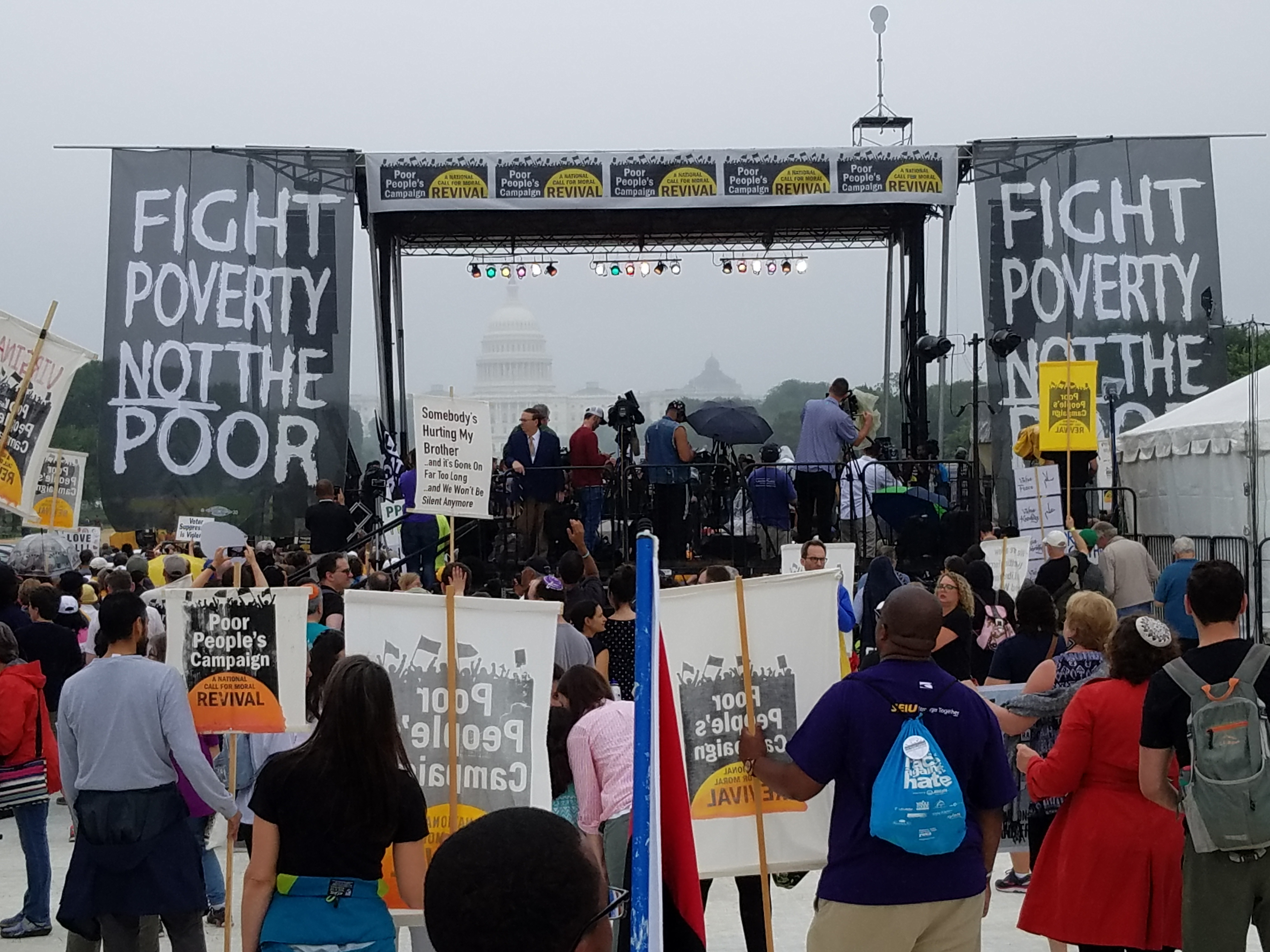 "Photo of ""An unsettling force"": The Poor People's Campaign rallies at US Capitol"