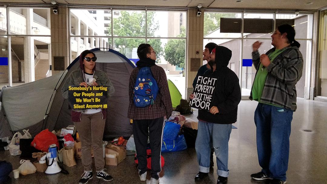 San Diego PD arrest non-violent housing activists