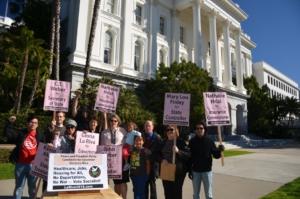 Lanzamiento de la campaña del Partido Paz y Libertad en el Capitolio Estatal. Foto de Liberación.