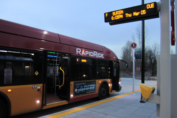 King County Metro RapidRide bus. Photo: SounderBruce. CC BY-SA 2.0
