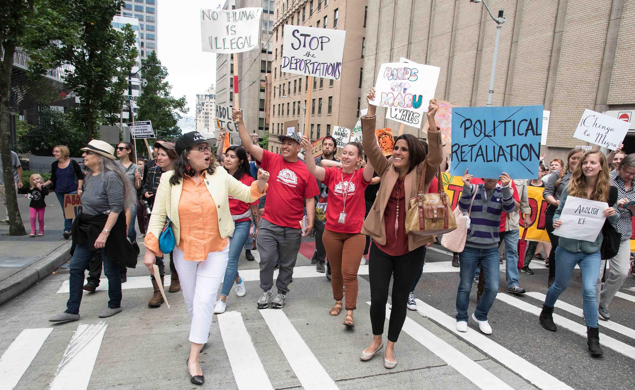 Seattle rallies unite against ICE deportations, Muslim ban