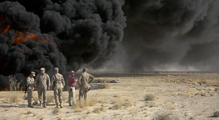 Burn pit smoke. Photo: Wikipedia Commons.