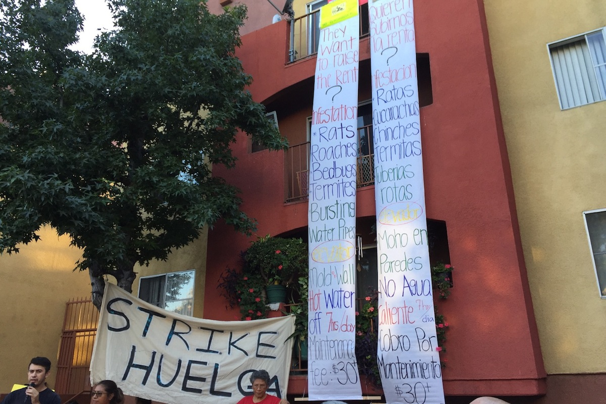 Photo of LA tenants fight back with massive rent strike