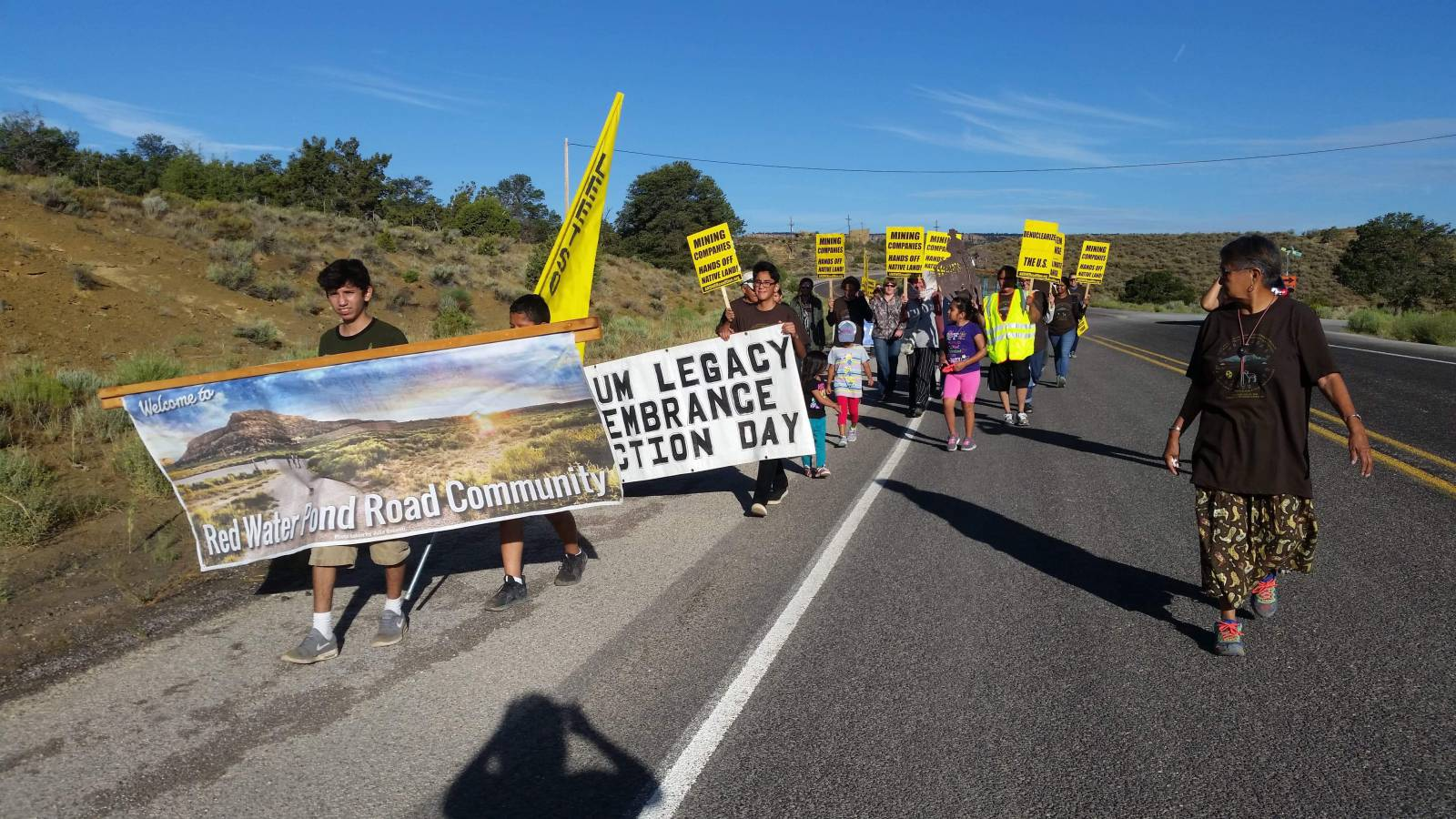 Photo of Protesting Church Rock uranium disaster