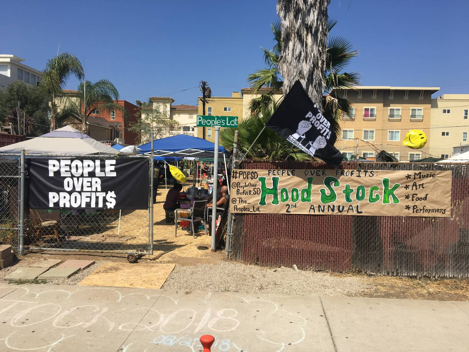 "Photo of San Diego's second annual ""Hoodstock"" shows solidarity with National Prison Strike"