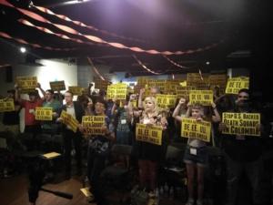 Solidaridad con Colombia en la Conferencia de Socialismo del Suroeste 2018. Foto de liberación