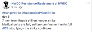 Screen shot of NWDC Facebook post.
