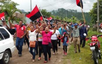 Supporters of the FSLN. Photo: La Voz del Sandinismo