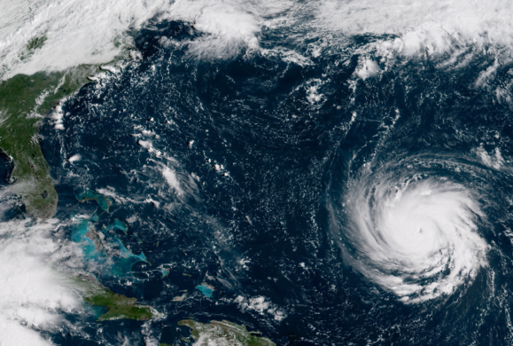 Hurricane Florence strengthens to a category 4. Photo: NASA on Wikimedia Commons