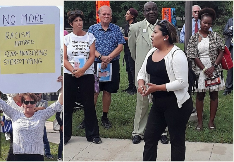 Long Island protesters expose racist 'immigration forum' that excluded immigrants