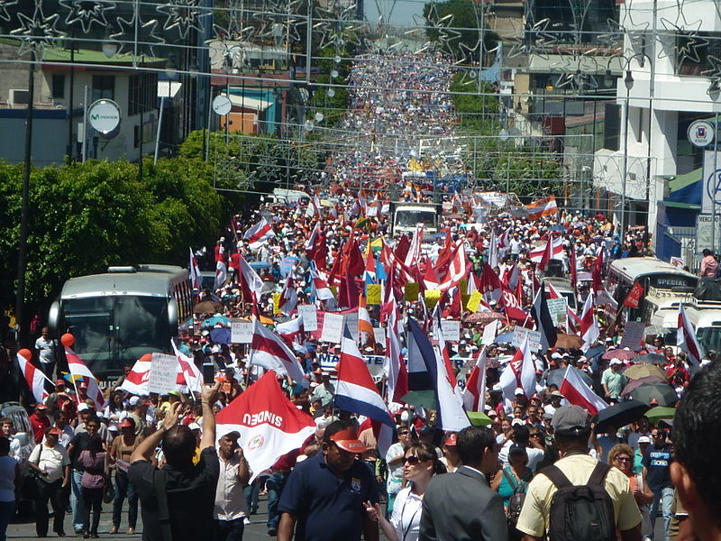 Photo of Costa Rican workers hold general strike to defend their rights