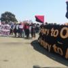 Manifestación de solidaridad en San Quintín, 25 de agosto del 2018 | Foto: Nube Brown