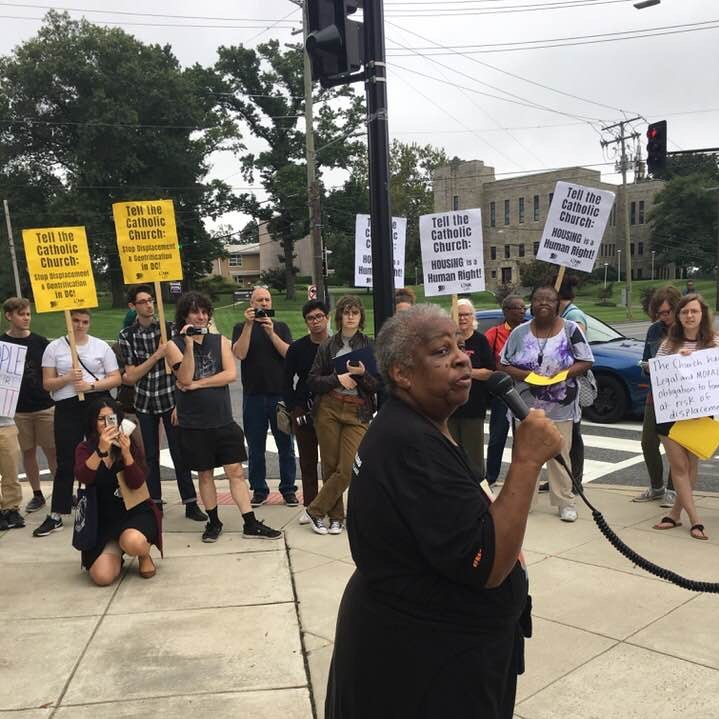Rally stands up to Catholic Church's attempt to gentrify Brookland corridor