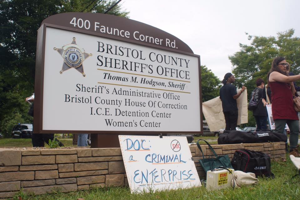 Activists in solidarity with Prison Strike speak out against Bristol County Jail and sheriff
