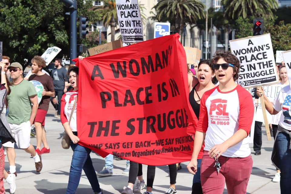 Photo of San Diego: Hundreds march against Kavanaugh and for striking hotel workers