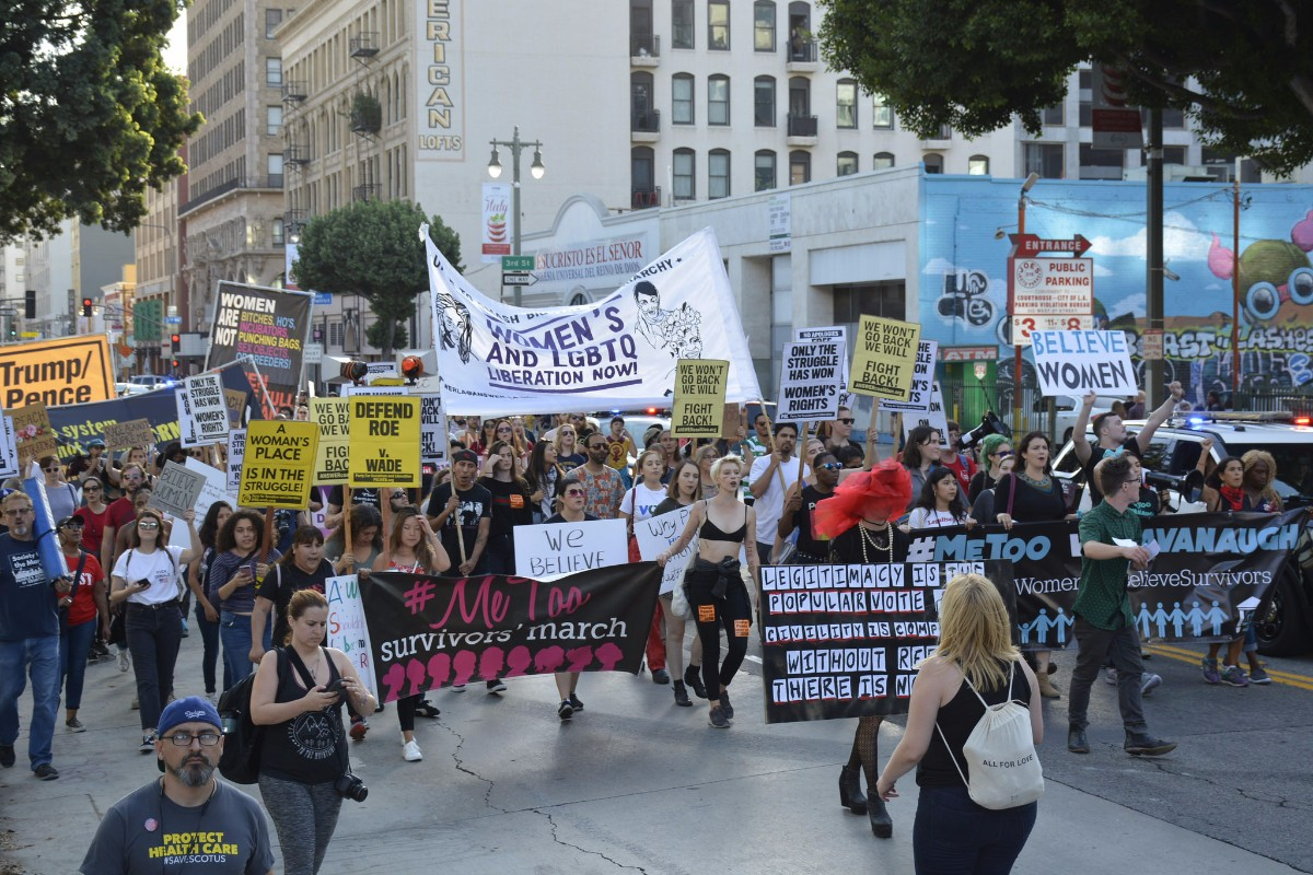 Photo of Los Angeles rally against Kavanaugh, for women´s rights
