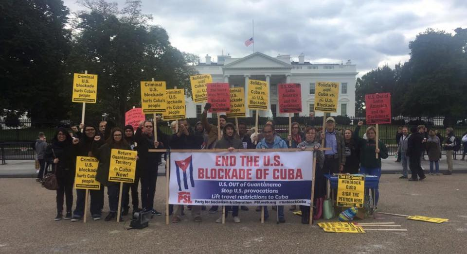 Photo of Cuba's friends rally in Washington,DC, call for end to US blockade
