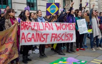 Protest against Bolsonaro in London, October 7, 2018. Photo: R4vi, CC BY-SA 3.0