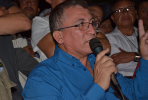 Bartolo Fuentes in press conference in Mexico City, Nov. 6, 2018. Liberation Photo: Gloria La Riva