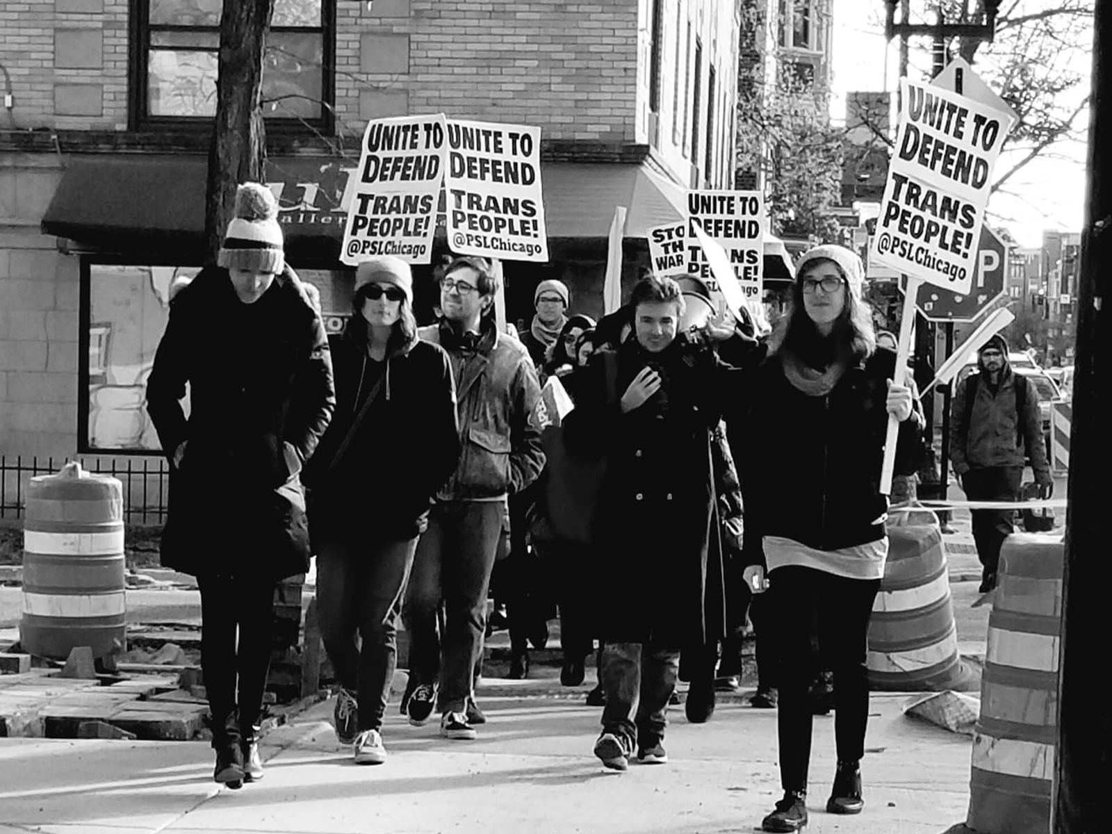 Photo of Street action in Chicago unites to defend trans people