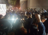 Protest of the killing of Marshall Miles outside of main downtown jail, Nov. 2. Credit: A. Ray Harvey