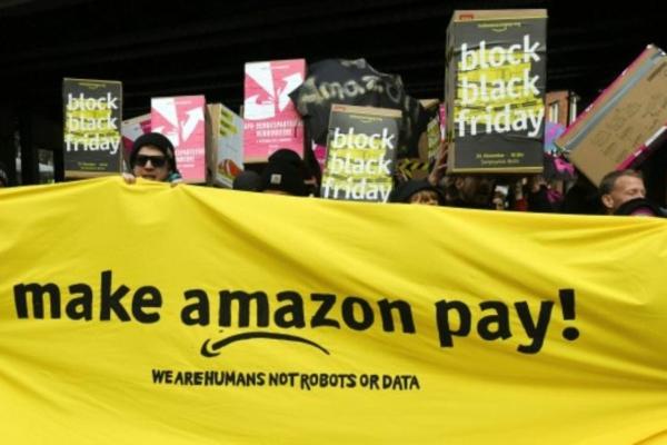 Amazon workers in Germany. Photo: Aida Mojica