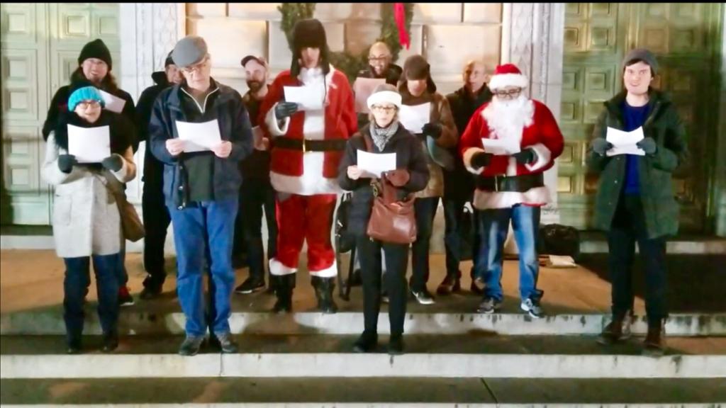 NJ immigrant rights carolers demand: 'Shut ICE down!'