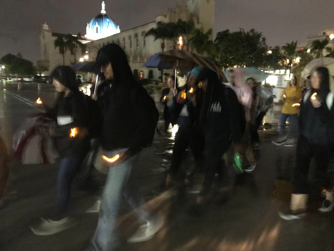 Photo of Black Lives Matter vigil in San Diego