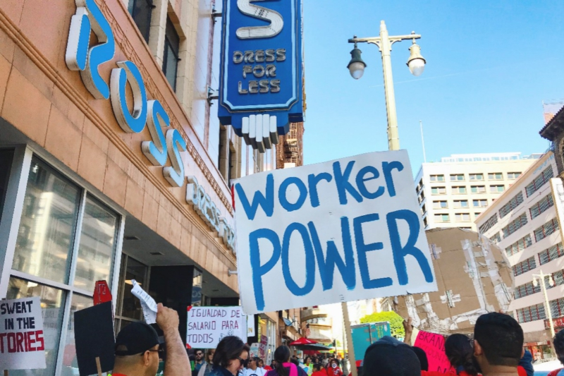 680704632fd46 'Dress for less' at what cost? Garment workers protest Ross stores |  Liberation News