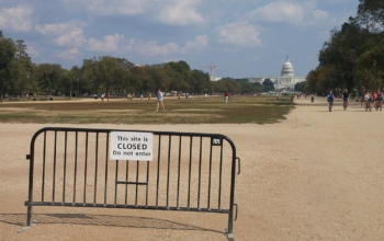 National Mall during government shutdown. Flickr user reivax [CC BY-SA 2.0