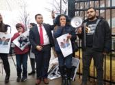 Crowd rallies on January 3, demanding freedom for Eduardo Samaniego, in Atlanta, Georgia. Photo: Liberation