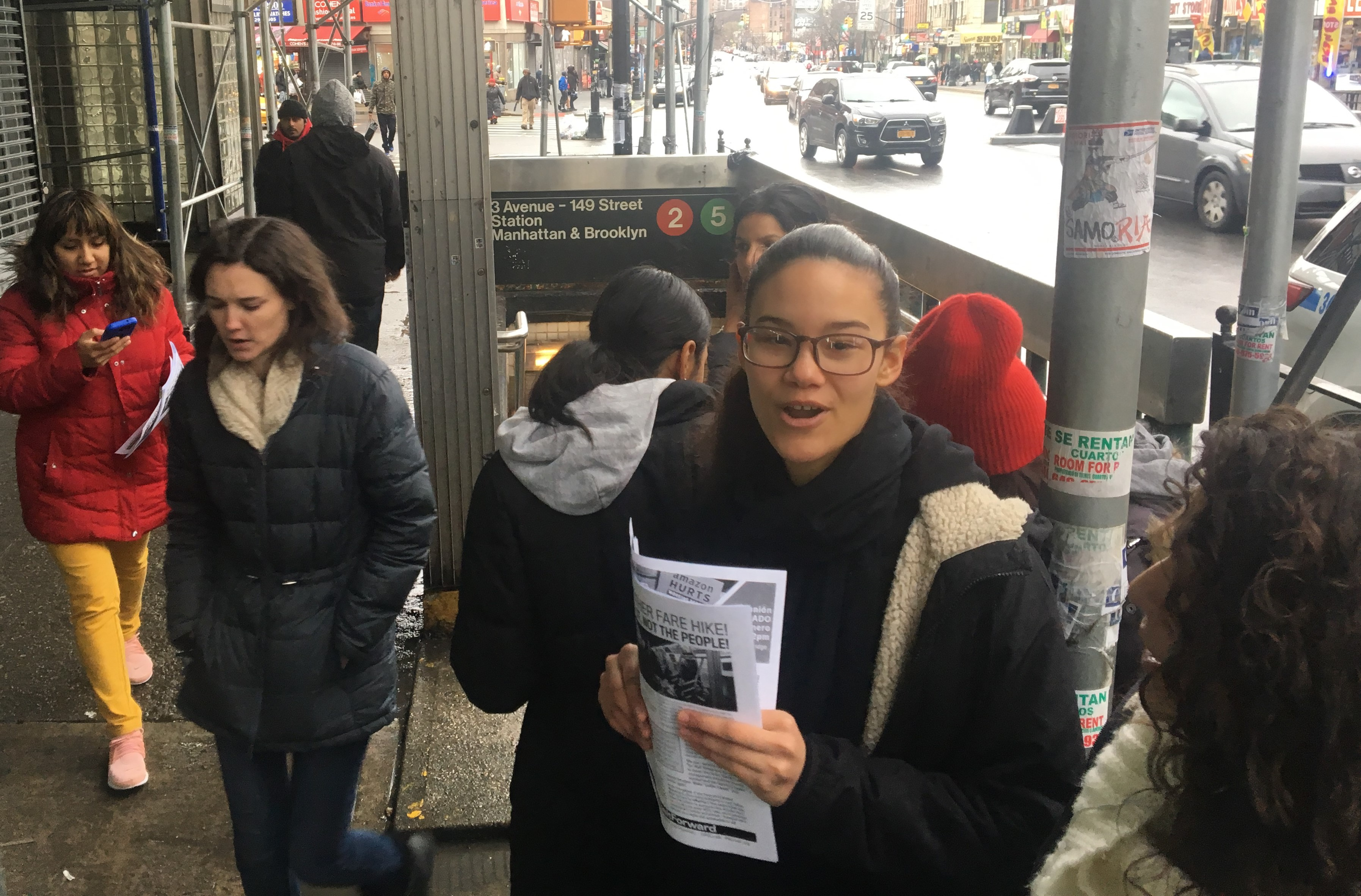Photo of South Bronx action hits fare hikes and subway arrests