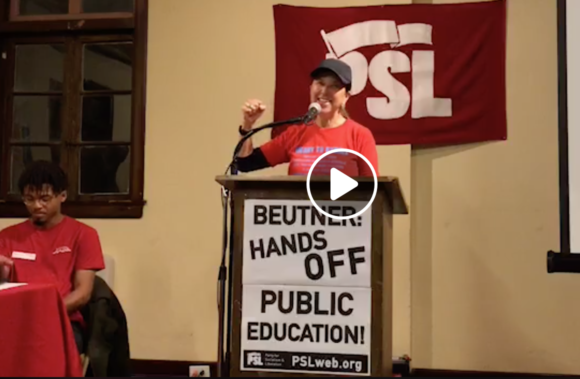 Photo of Striking L.A. teachers speak at PSL Forum: 'We're going to beat them!'
