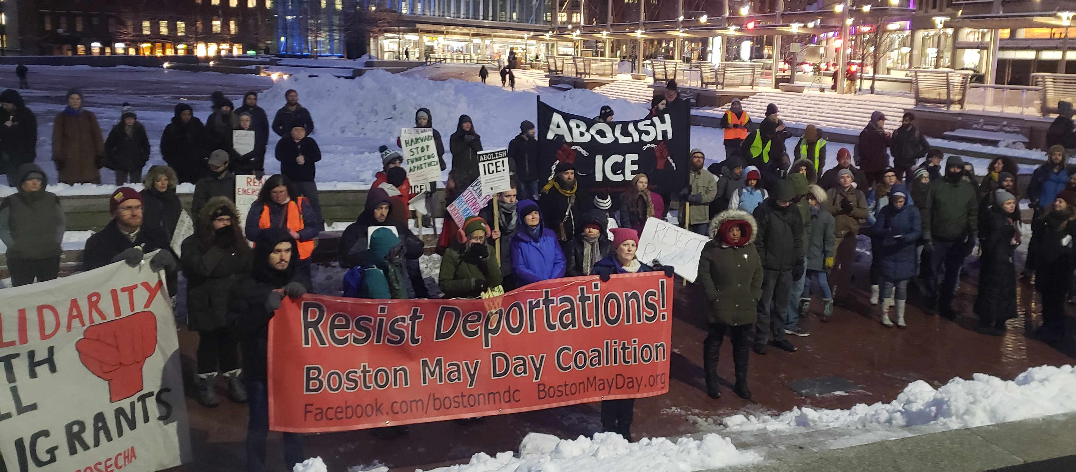No Wall: Boston rally rejects Trump's 'National Emergency'