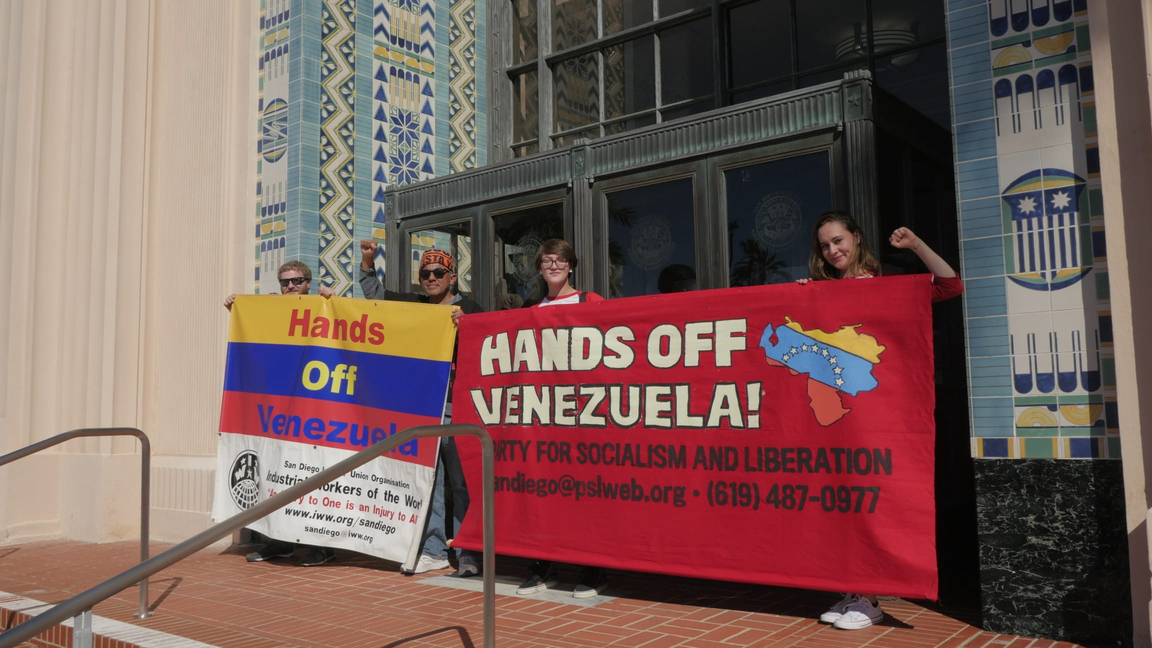 Photo of San Diego rally: U.S. Hands Off Venezuela!