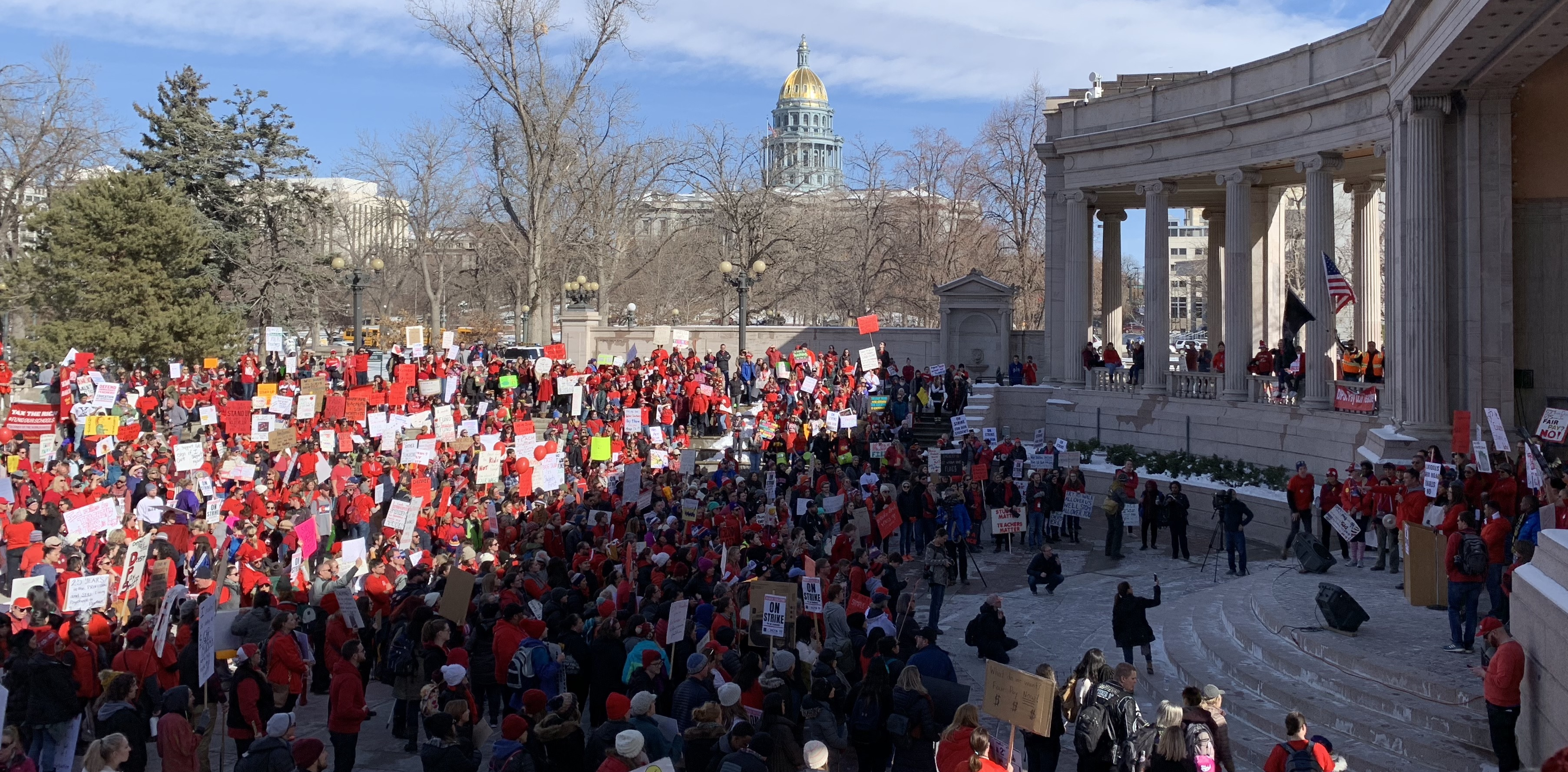 Photo of Eyewitness: Day two of the Denver teachers' strike